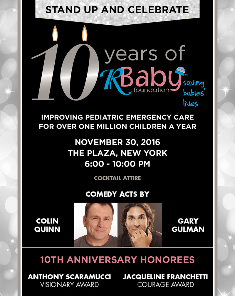 Join us for the R Baby Foundation 10th Anniversary Gala!