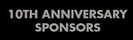 10 Anniversary Gala Sponsors